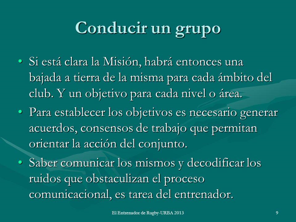 Conducir un grupo Si está clara la Misión, habrá entonces una bajada a tierra de la misma para cada ámbito del club. Y un objetivo para cada nivel o á