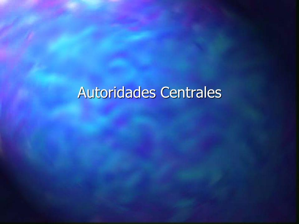Autoridades Centrales