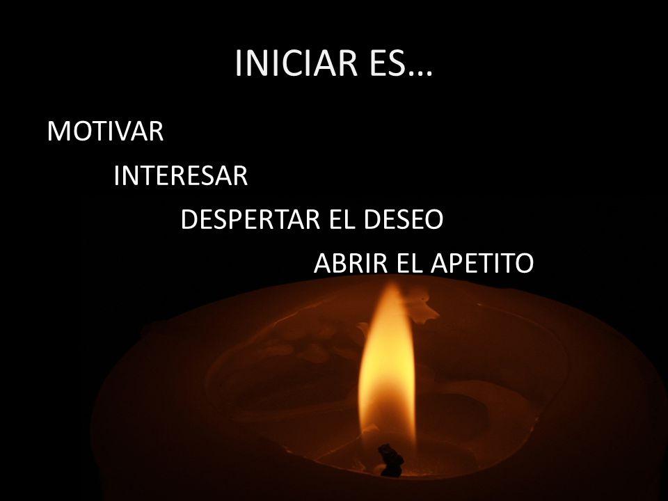 INICIAR ES… MOTIVAR INTERESAR DESPERTAR EL DESEO ABRIR EL APETITO