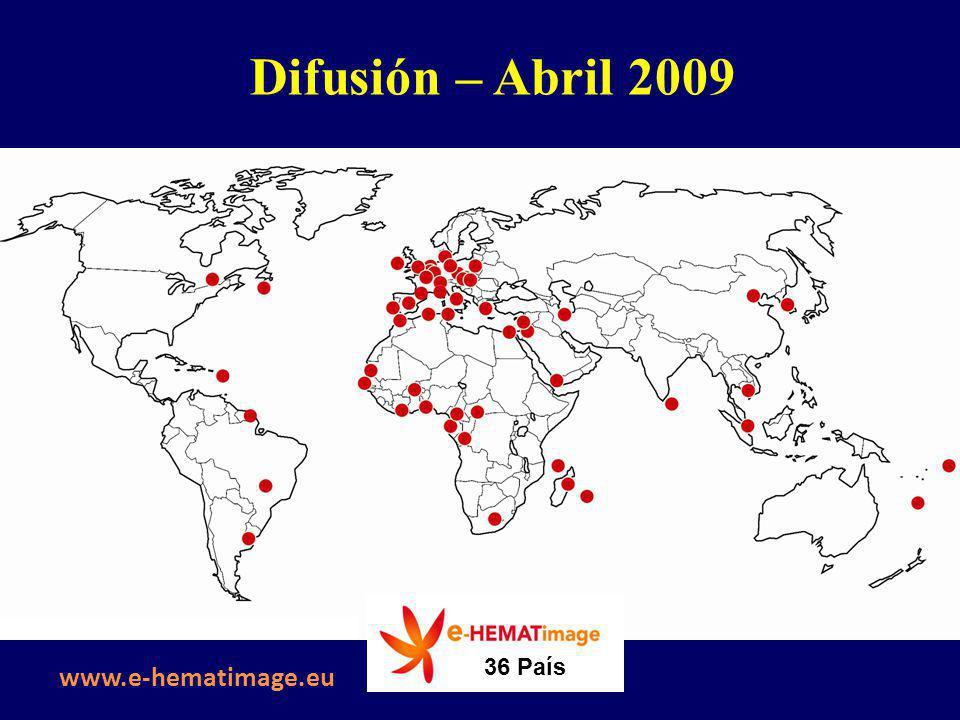 Difusión – Abril 2009 36 País www.e-hematimage.eu