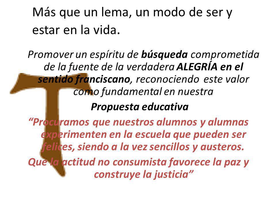 Al mismo tiempo el COMPARTIR expresa la fraternidad y la solidaridad que son notas propias del Carisma de María Ana Mogas, que hoy nos toca a nosotros actualizar.