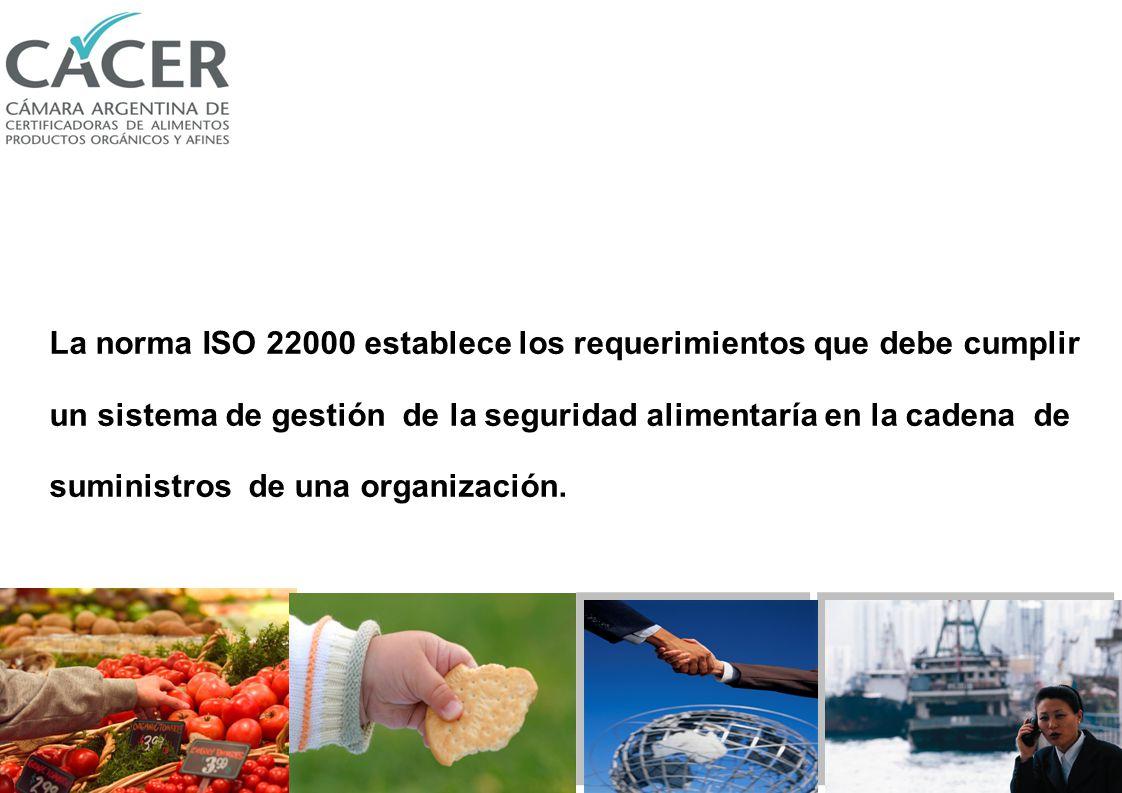 Requerimientos y Perspectivas de la norma ISO 22000:2005 Lic. Laura Schmidt