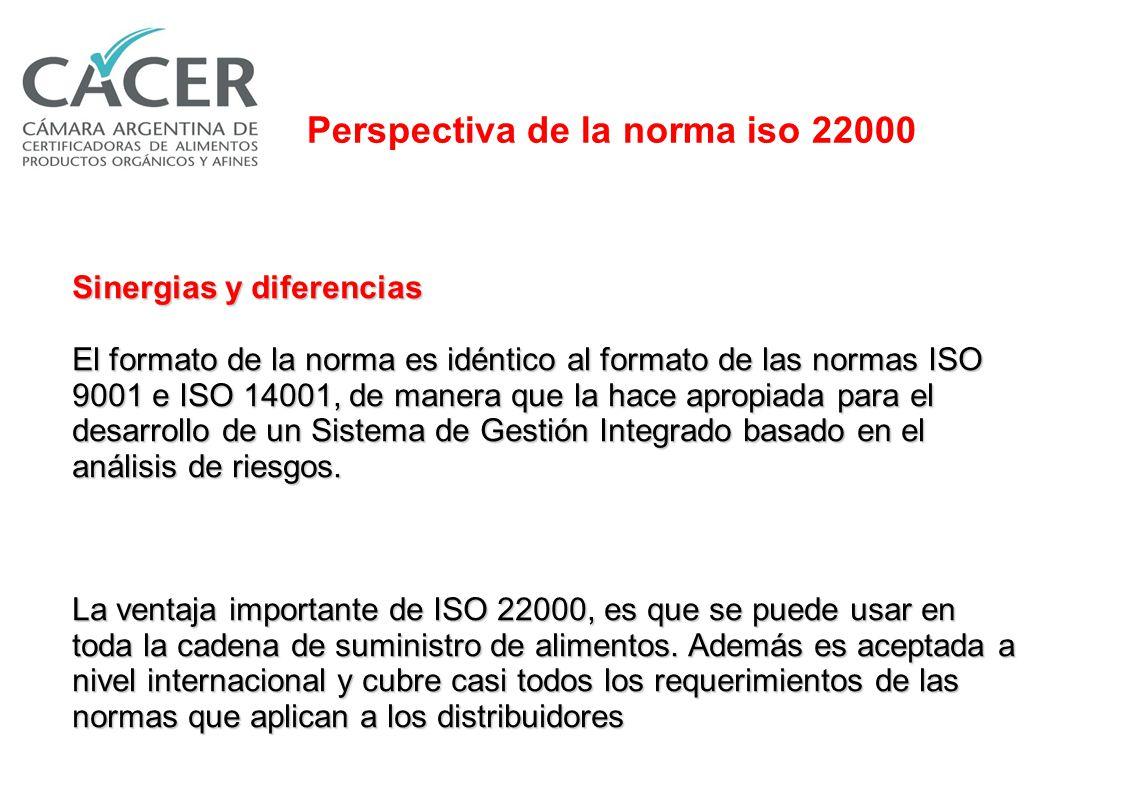 ISO 22000 ISO 9000 HACCPHACCP ISO 22000 OBJETIVO Incrementar la satisfacción del cliente mediante un control eficaz de los peligros para la seguridad alimentaria, con un enfoque integral de cadena alimentaria.