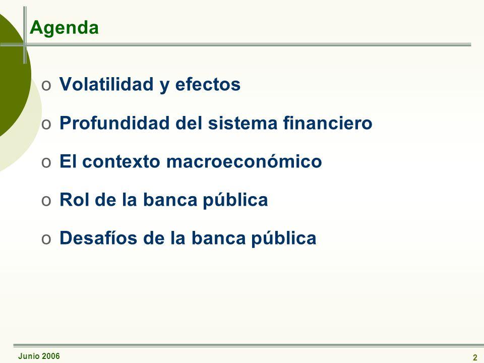 Junio 2006 3 La volatilidad...