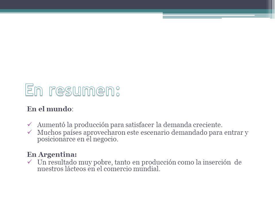 2012 Crisis Continua el proceso de concentración del negocio lechero.