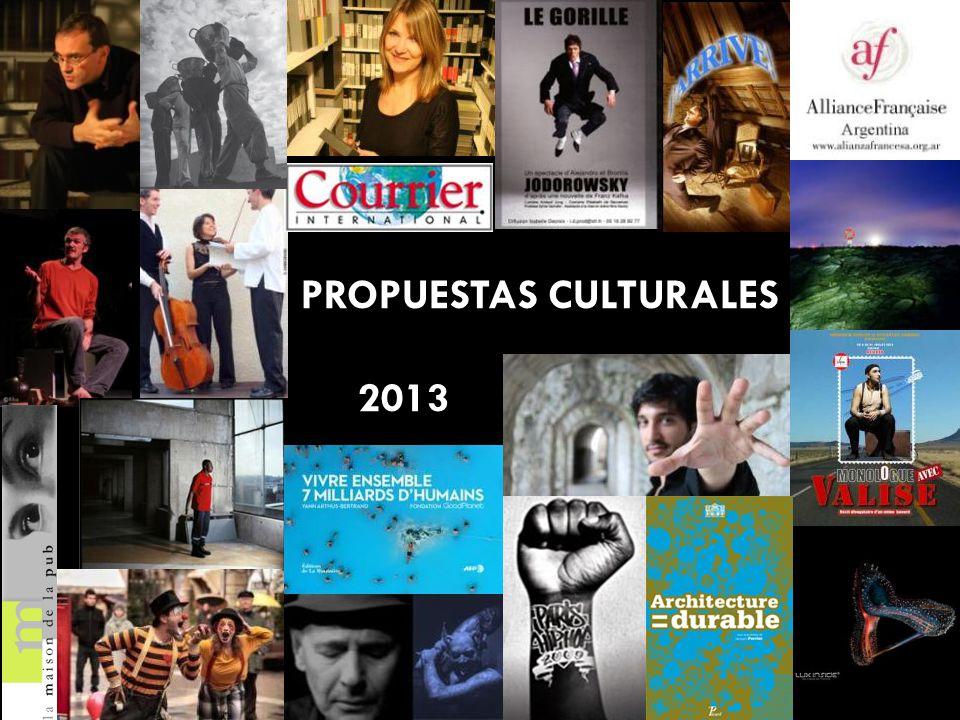 PROPUESTAS CULTURALES 2013