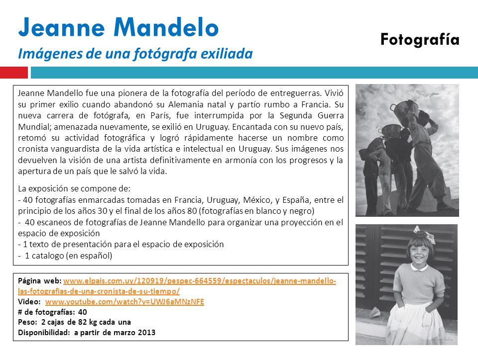 Jeanne Mandelo Imágenes de una fotógrafa exiliada Fotografía Jeanne Mandello fue una pionera de la fotografía del período de entreguerras.