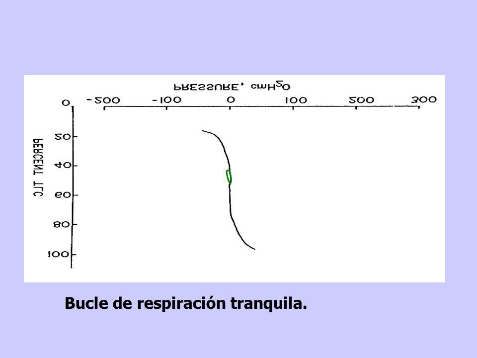Flujo Volumen Presión CPT zona de fatiga normocápnicos hipercápnicos y los límites de los pacientes con EPOC...