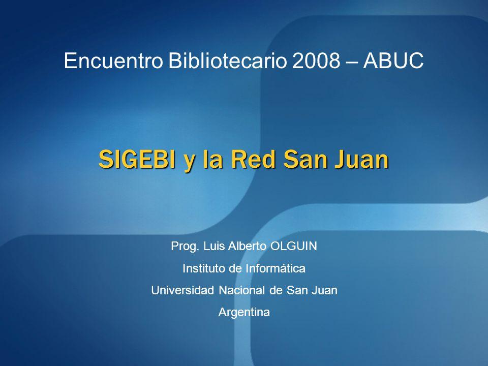 Acerca del software utilizado en las Bibliotecas Que es SIGEBI?.