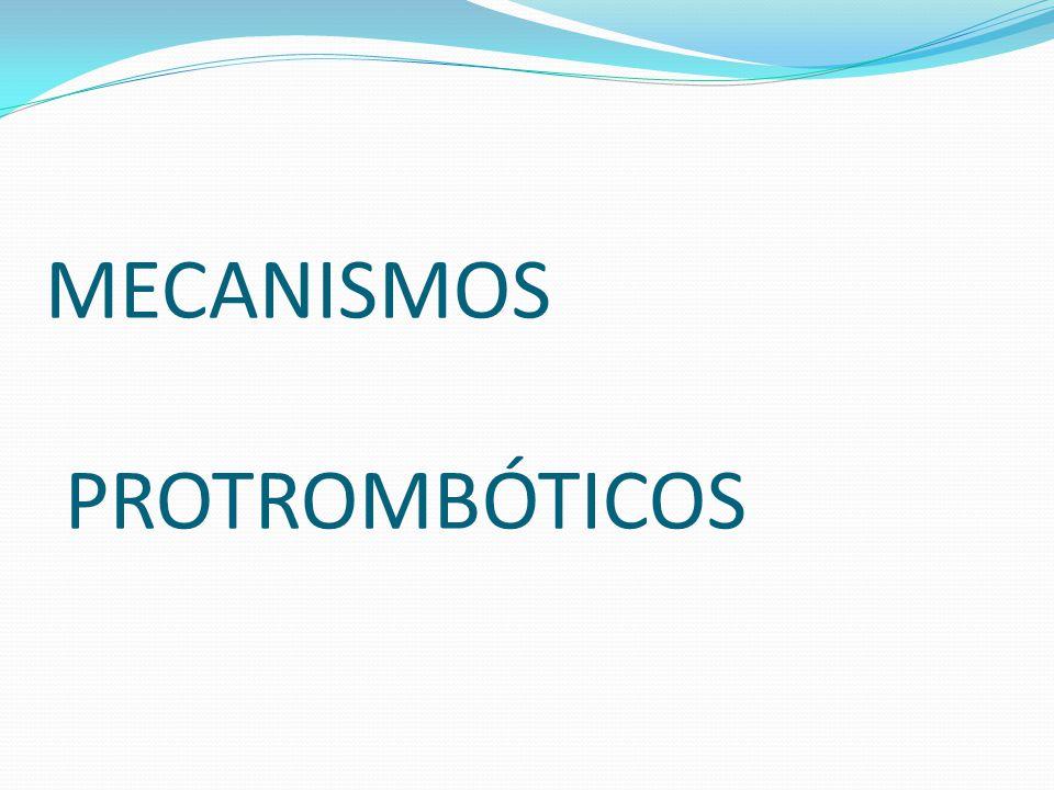 MECANISMOS PROTROMBÓTICOS
