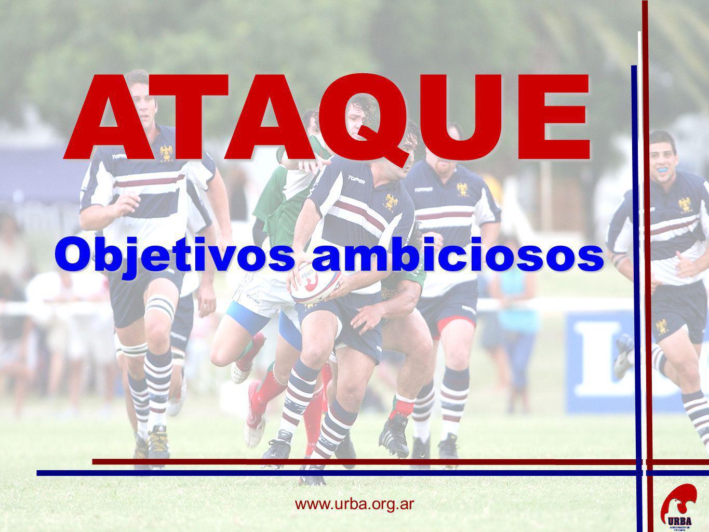 www.urba.org.ar GRAN VOLUMEN DE JUEGO ALTA INTENSIDAD CON GRANDES ACELERACIONES CAMBIOS DE RITMO Y DE ÁNGULOS DE CARRERAS JUEGO POR ROLESATAQUE CARACTERISTICAS: