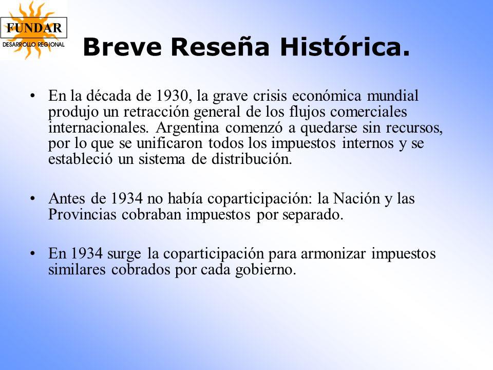 Breve Reseña Histórica. En la década de 1930, la grave crisis económica mundial produjo un retracción general de los flujos comerciales internacionale