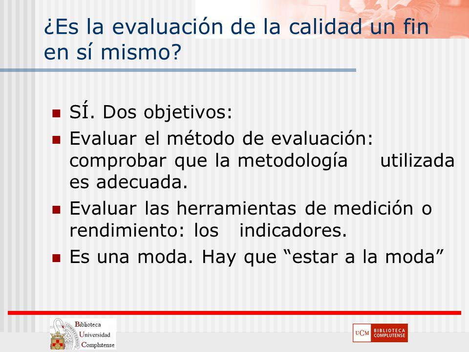 SÍ. Dos objetivos: Evaluar el método de evaluación: comprobar que la metodología utilizada es adecuada. Evaluar las herramientas de medición o rendimi