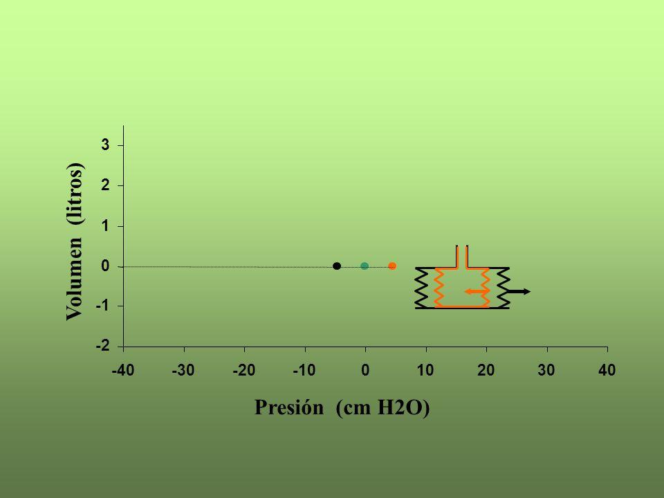 -2 0 1 2 3 -40-30-20-10010203040 Presión (cm H2O) Volumen (litros)