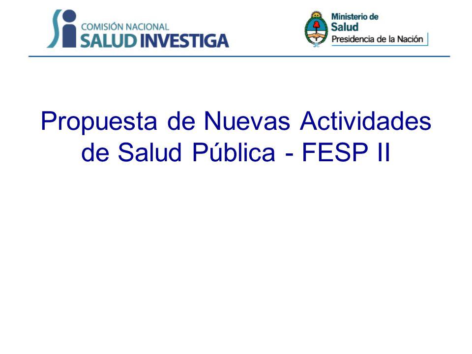 Propuesta de Nuevas Actividades de Salud Pública - FESP II