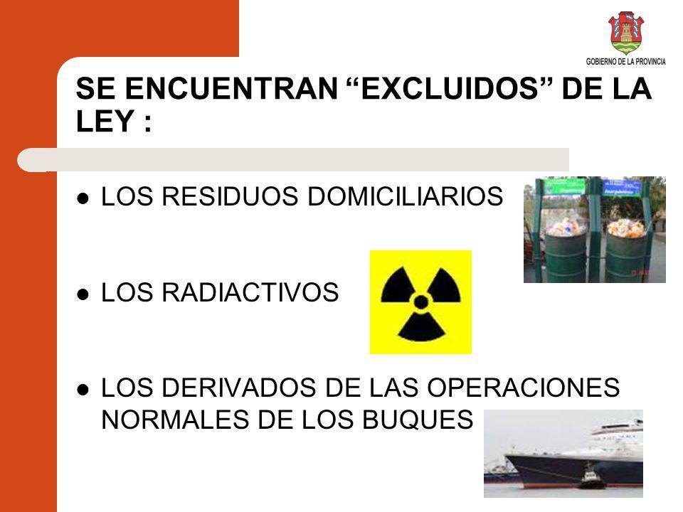 Objetivos de la regulación de los Residuos Peligrosos Establecer un sistema para el seguimiento y control.