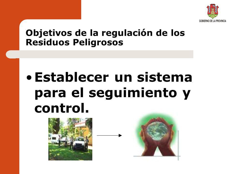 Objetivos de la regulación de los Residuos Peligrosos Incentivar el desarrollo de sistemas de gestión ambiental.