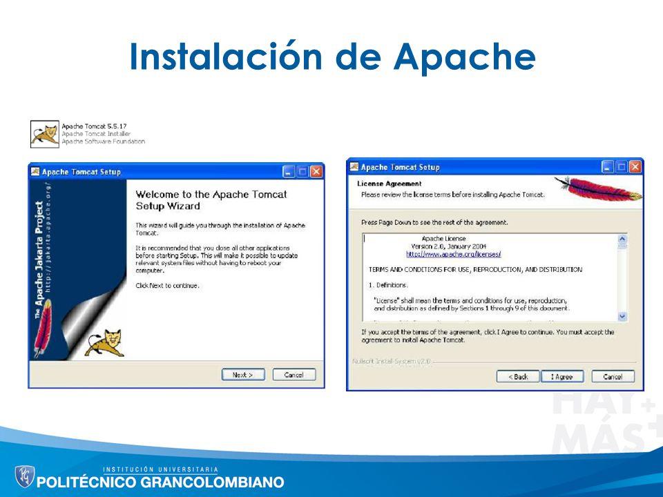 Instalación de Apache
