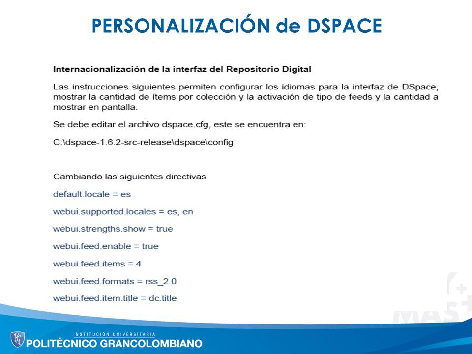 PERSONALIZACIÓN de DSPACE