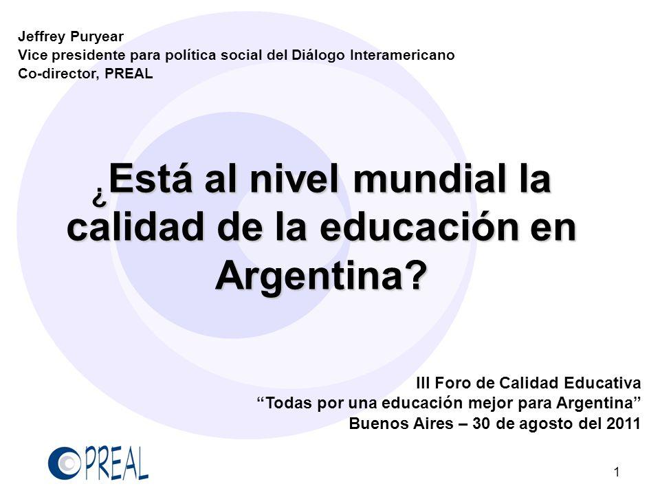 Las brechas entre ricos y pobres son grandes Los alumnos más pobres están más de tres grados escolares por detrás de los más ricos Argentina tiene la tercera brecha entre ricos y pobres más amplia de los participantes en PISA 12