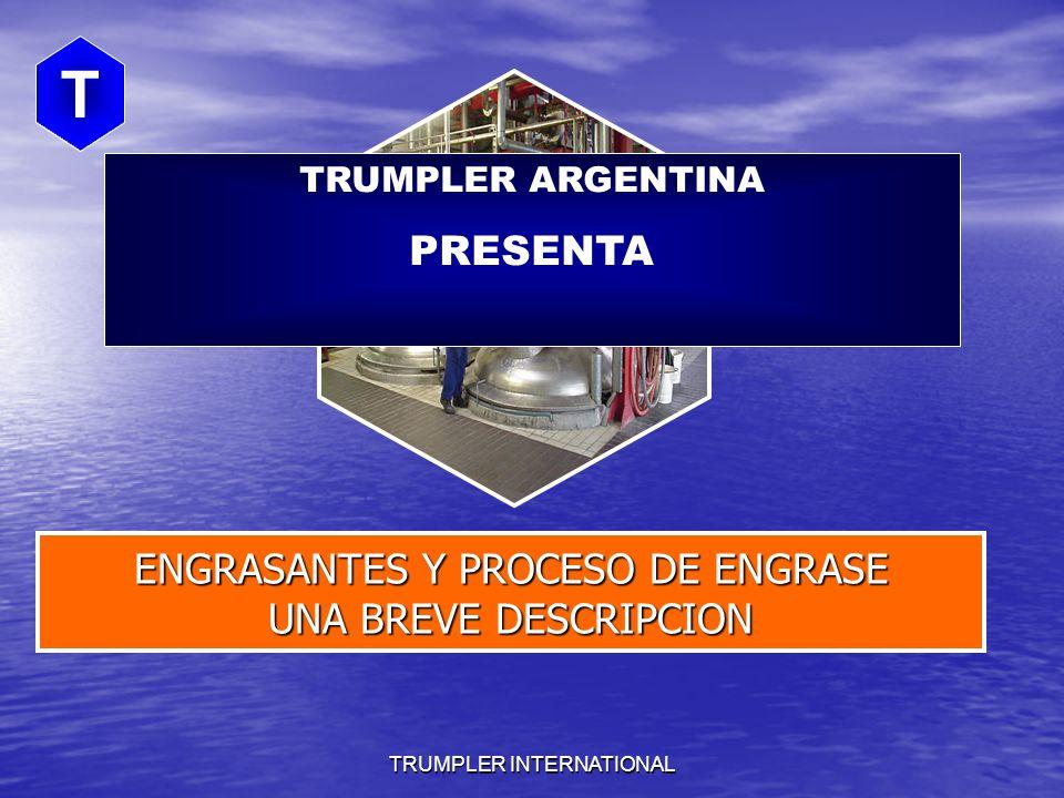 TRUMPLER INTERNATIONAL T ENGRASANTES Y PROCESO DE ENGRASE UNA BREVE DESCRIPCION THE FOUR F`s TRUMPLER ARGENTINA PRESENTA