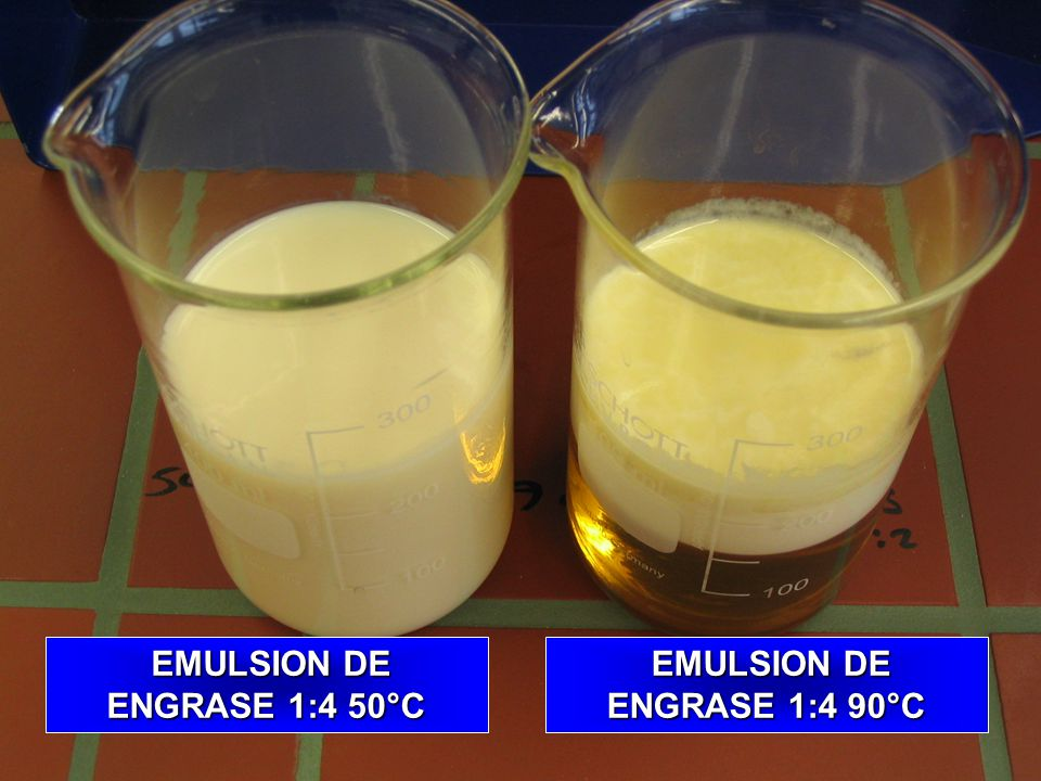 TRUMPLER INTERNATIONAL EMULSION DE ENGRASANTE 1:4 50°C EMULSION DE ENGRSANTE 1:4 90°C EMULSION DE ENGRSANTE 1:4 90°C