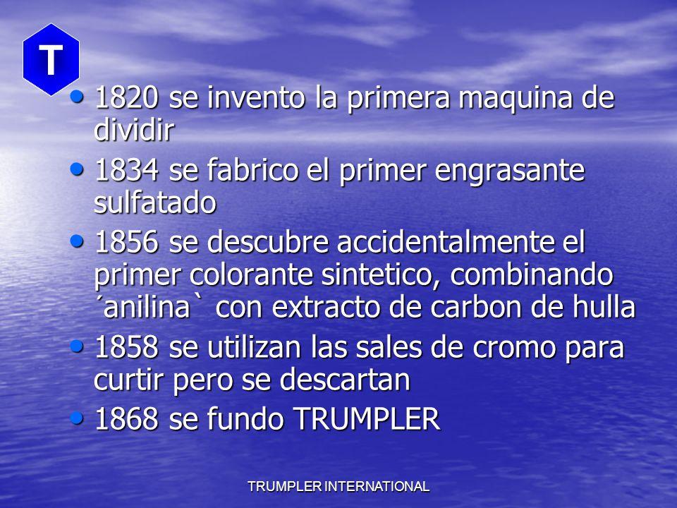 TRUMPLER INTERNATIONAL T