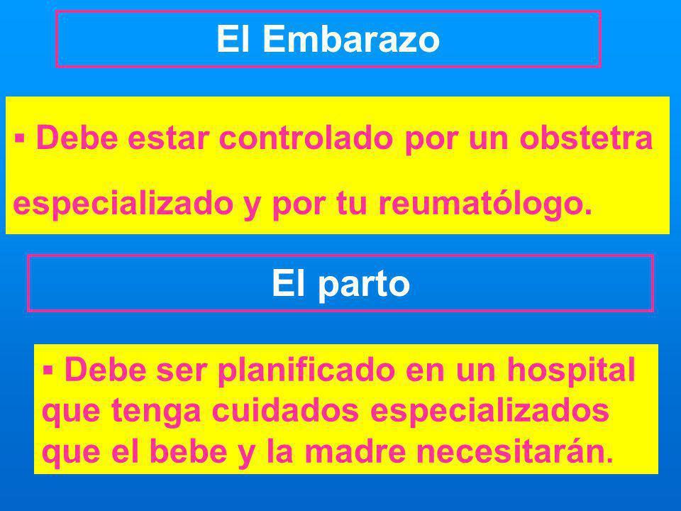 Debe ser planificado en un hospital que tenga cuidados especializados que el bebe y la madre necesitarán. Debe estar controlado por un obstetra especi