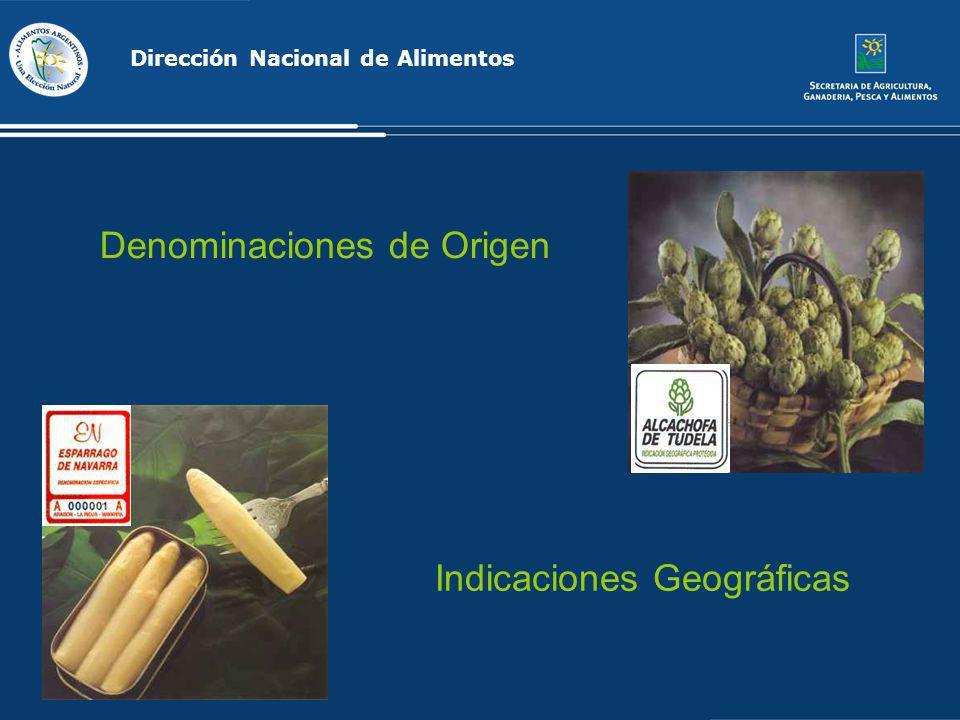 Dirección Nacional de Alimentos Denominaciones de Origen Indicaciones Geográficas