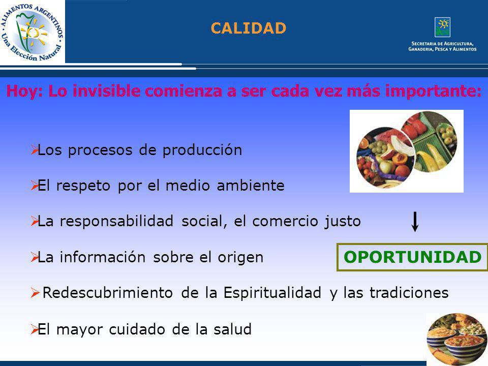 CALIDAD La calidad la puede otorgar las características del producto…..