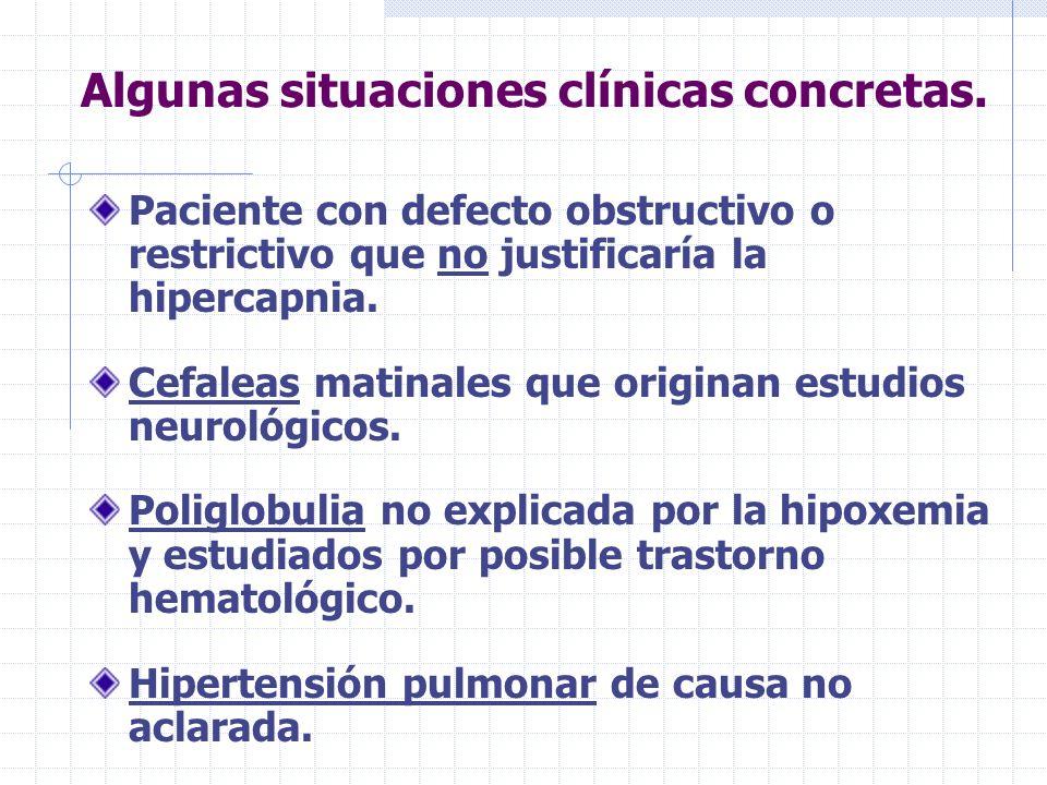 Algunas situaciones clínicas concretas.