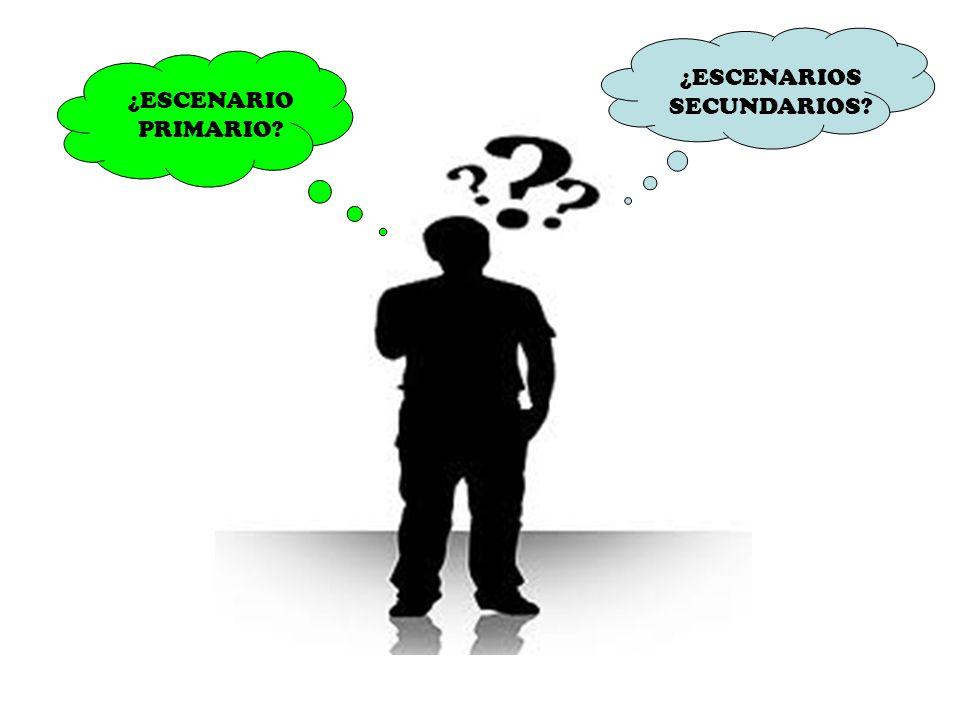 ¿ESCENARIOS SECUNDARIOS ¿ESCENARIO PRIMARIO