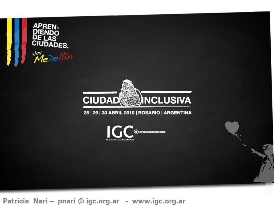 Patricia Nari – pnari @ igc.org.ar - www.igc.org.ar