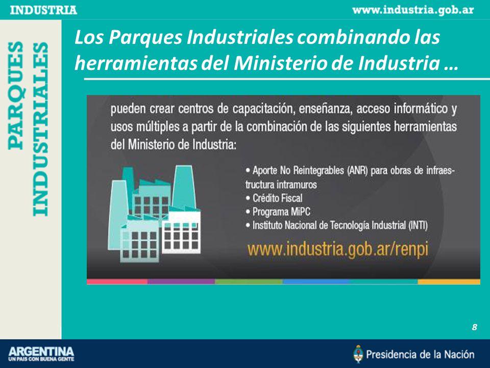 8 Los Parques Industriales combinando las herramientas del Ministerio de Industria …
