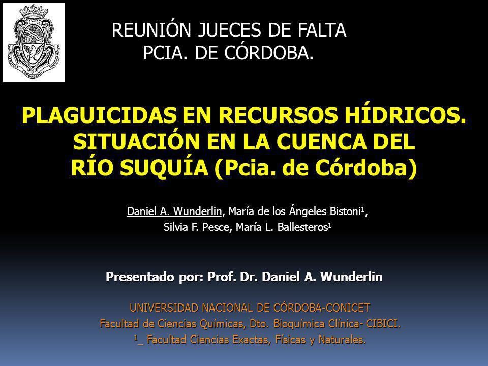 GRACIAS POR SU ATENCIÓN Dr. Daniel A. Wunderlin dwunder@fcq.unc.edu.ar