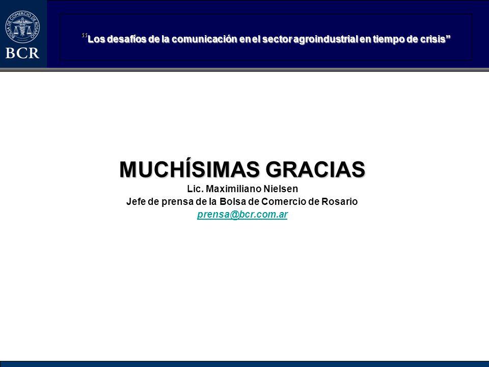 Los desafíos de la comunicación en el sector agroindustrial en tiempo de crisis Los desafíos de la comunicación en el sector agroindustrial en tiempo
