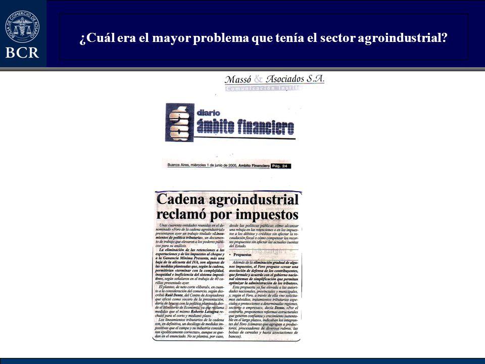 ¿Cuál era el mayor problema que tenía el sector agroindustrial?