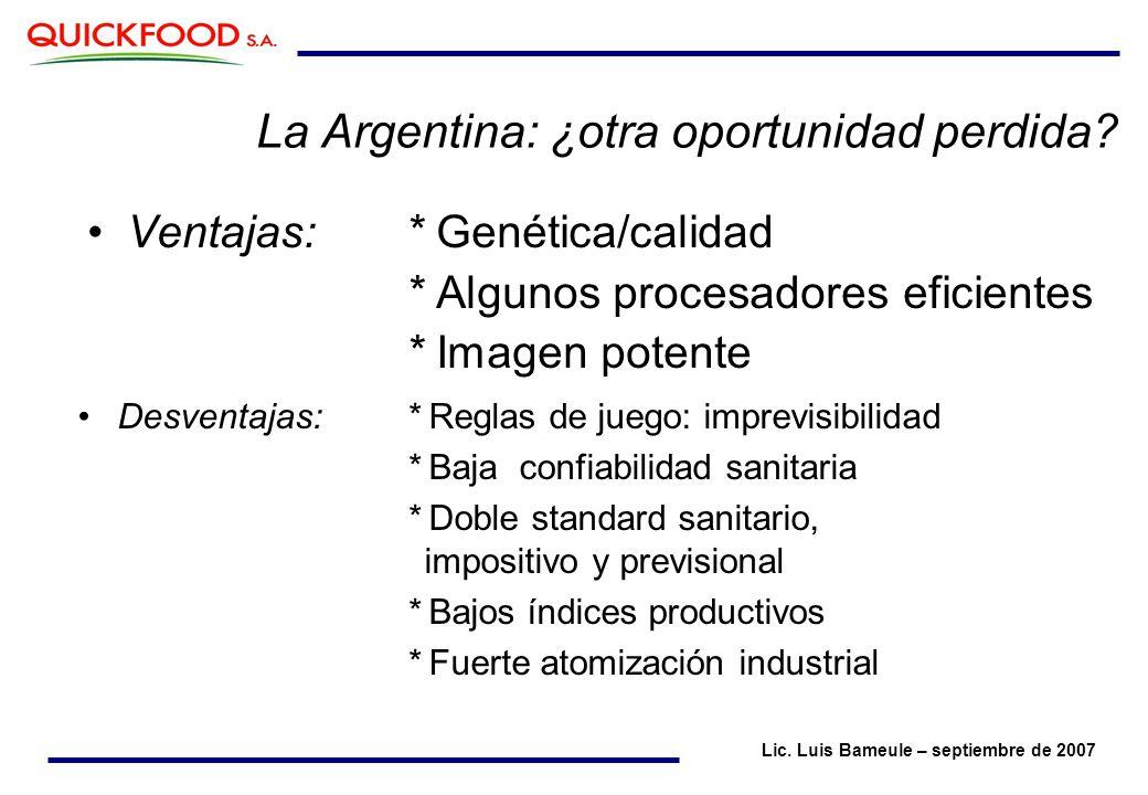 La Argentina: ¿otra oportunidad perdida.