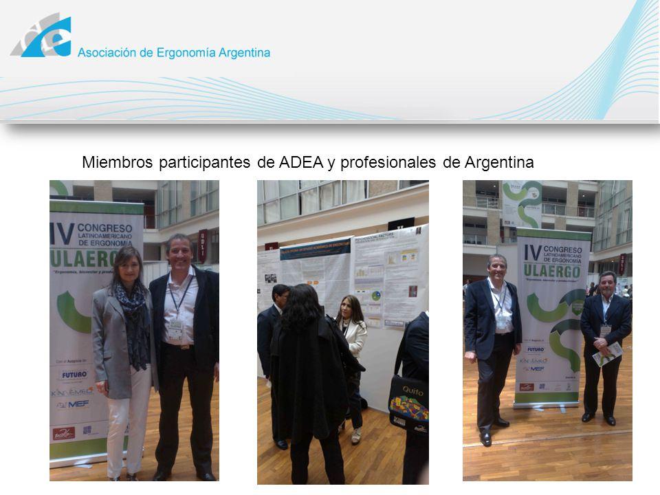 Miembros participantes de ADEA y profesionales de Argentina