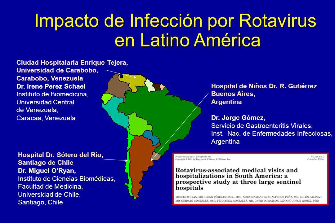 Impacto de Infección por Rotavirus en Latino América Hospital Dr. Sótero del Río, Santiago de Chile Dr. Miguel ORyan, Instituto de Ciencias Biomédicas