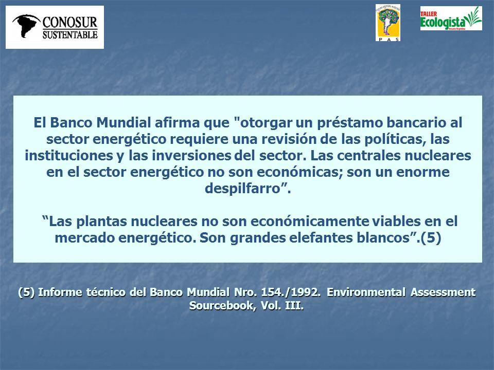 El Banco Mundial afirma que otorgar un préstamo bancario al sector energético requiere una revisión de las políticas, las instituciones y las inversiones del sector.