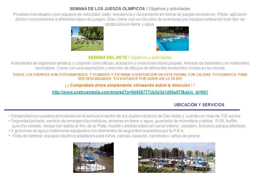 UBICACIÓN Y SERVICIOS Desarrollamos nuestras actividades en el exclusivo sector de los clubes náuticos de San Isidro y cuenta con más de 700 socios.