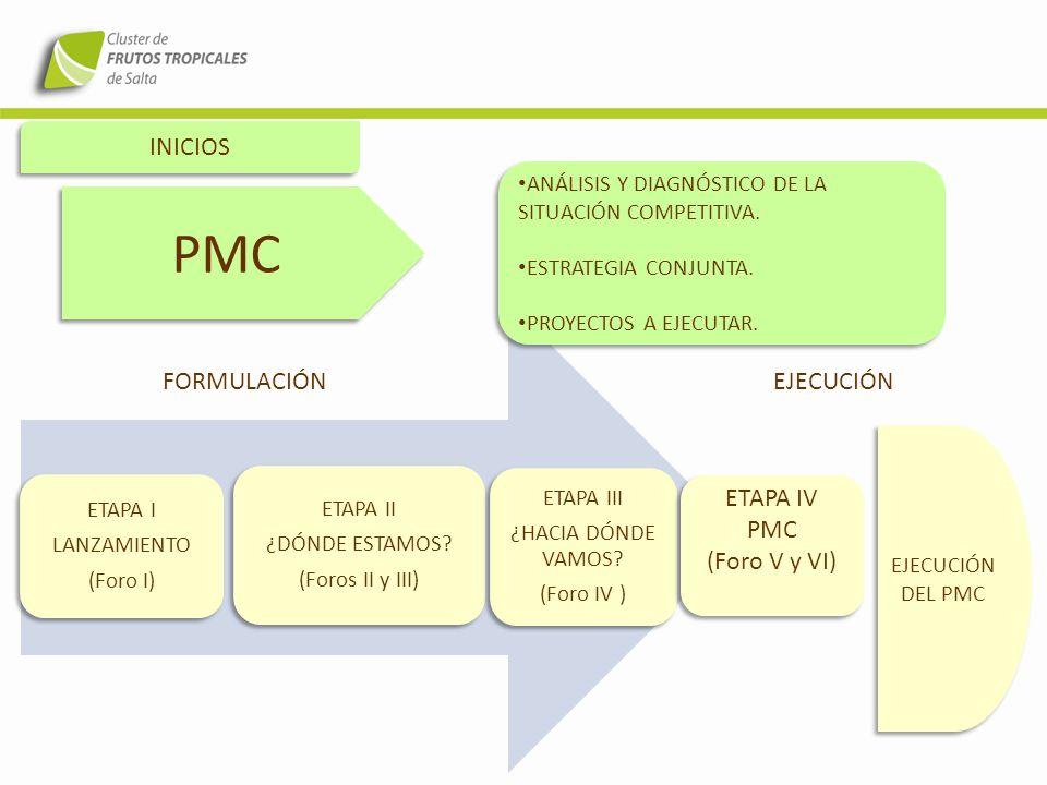 DIAGNÓSTICO CONSENSUADO ANÁLISIS DE LA SITUACIÓN COMPETITIVA CONSENSO PLAN DE MEJORA COMPETITIVA (PMC)