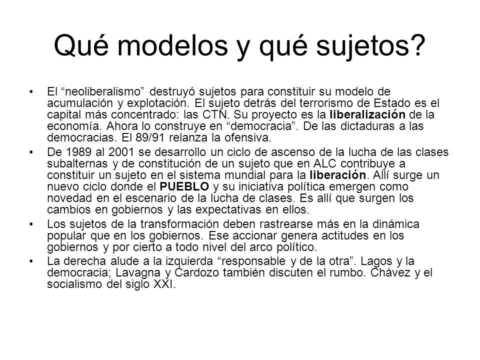 Quién vence a quién.Existen dos proyectos en pugna, el de la liberalización y el de la liberación.