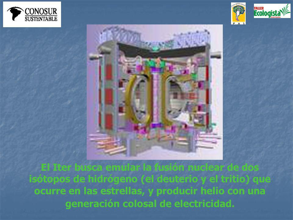 El Iter busca emular la fusión nuclear de dos isótopos de hidrógeno (el deuterio y el tritio) que ocurre en las estrellas, y producir helio con una generación colosal de electricidad.