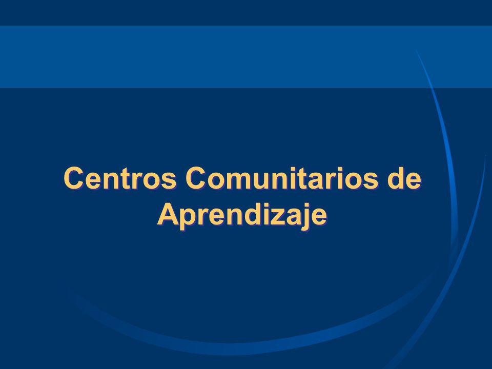 ¿Qué es un Centro Comunitario de Aprendizaje (CCA).