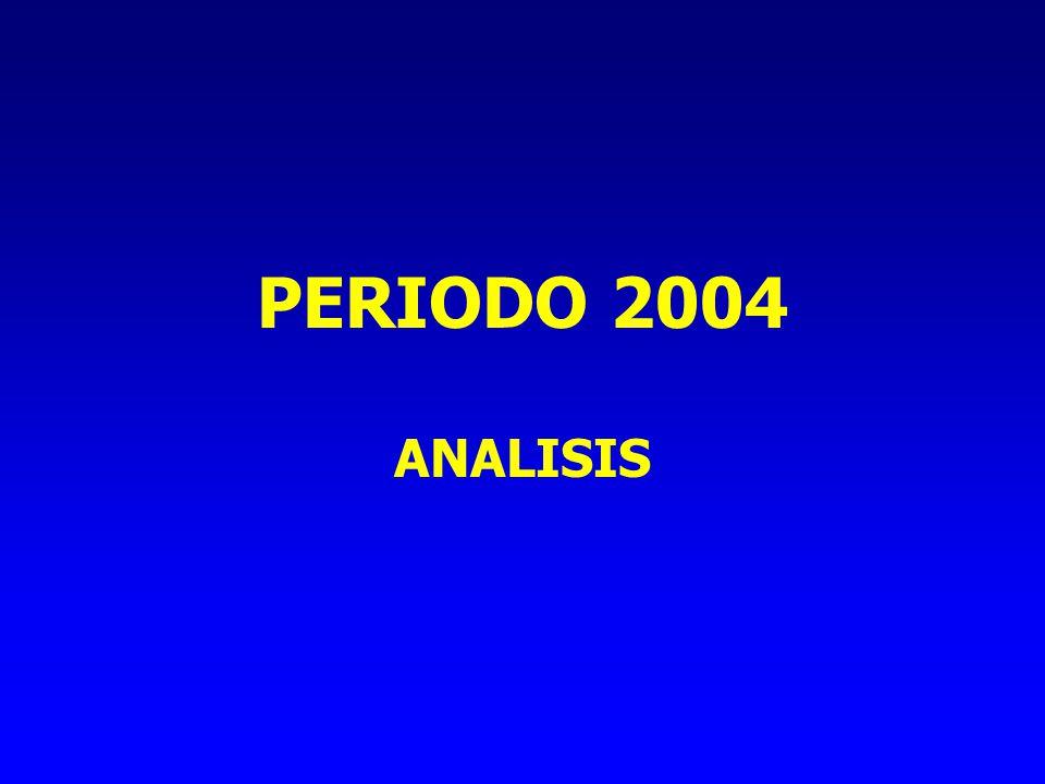 PERIODO 2004 ANALISIS