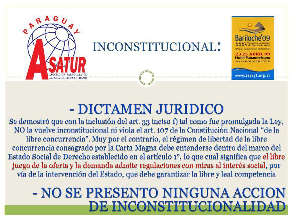 - DICTAMEN JURIDICO Se demostró que con la inclusión del art.
