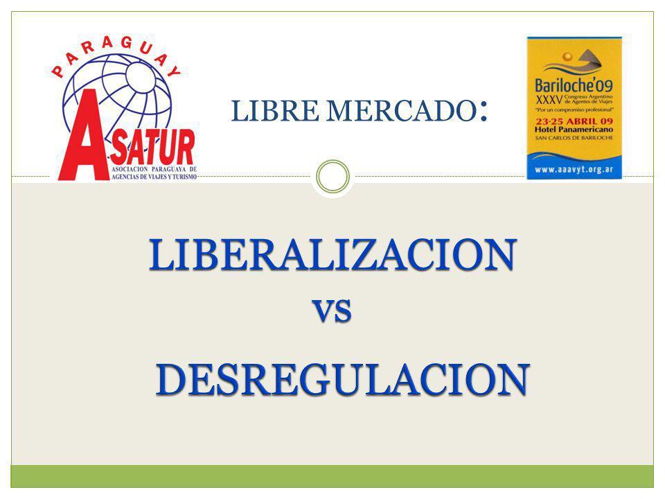 LIBERALIZACION vs LIBRE MERCADO :