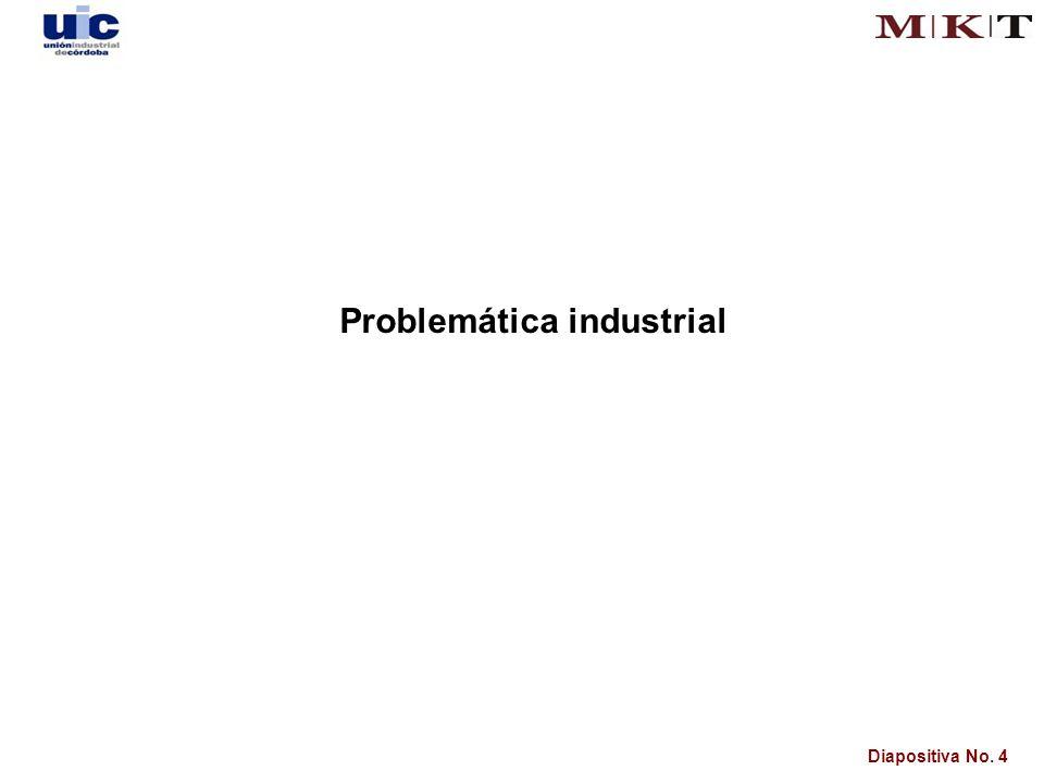 Diapositiva No. 4 Problemática industrial